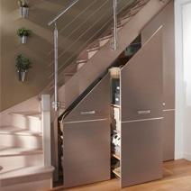 Am nager un placard sous escaliers d clic - Faire un placard sous escalier ...