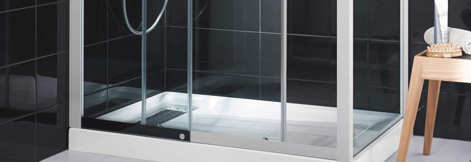 les portes de douche. Black Bedroom Furniture Sets. Home Design Ideas