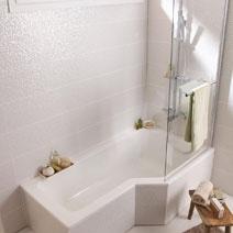 Ecran de baignoire 2 volets g nie salle de bains for Lapeyre baignoire douche