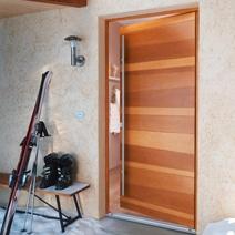 Porte de service valen ay bois exotique portes for Lapeyre porte de service isolante