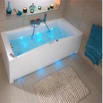 Baignoire baln o droite mod le lagune syst me perle salle de bains - Notice baignoire balneo ...