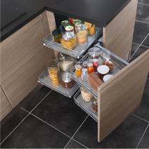 Les meubles de cuisine solution gain de place - Cuisine sur mesure petite surface ...