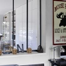 Verri re d 39 atelier noire portes - Porte style atelier d artiste ...
