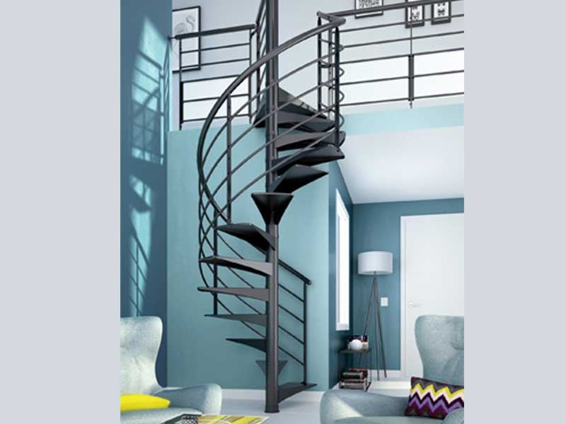 escalier limon central lapeyre great bien choisir votre. Black Bedroom Furniture Sets. Home Design Ideas