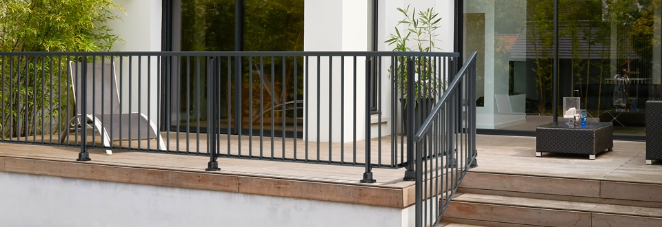 Rambarde escalier garde corps ext rieur lapeyre - Garde corps balcon exterieur lapeyre ...
