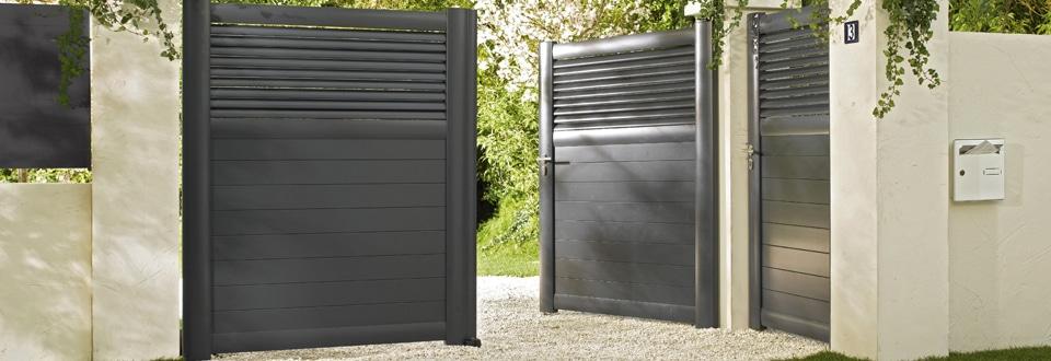 portails ext rieur jardin lapeyre. Black Bedroom Furniture Sets. Home Design Ideas