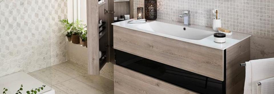 Meubles salle de bains lapeyre for Meuble salle de bain porte coulissante