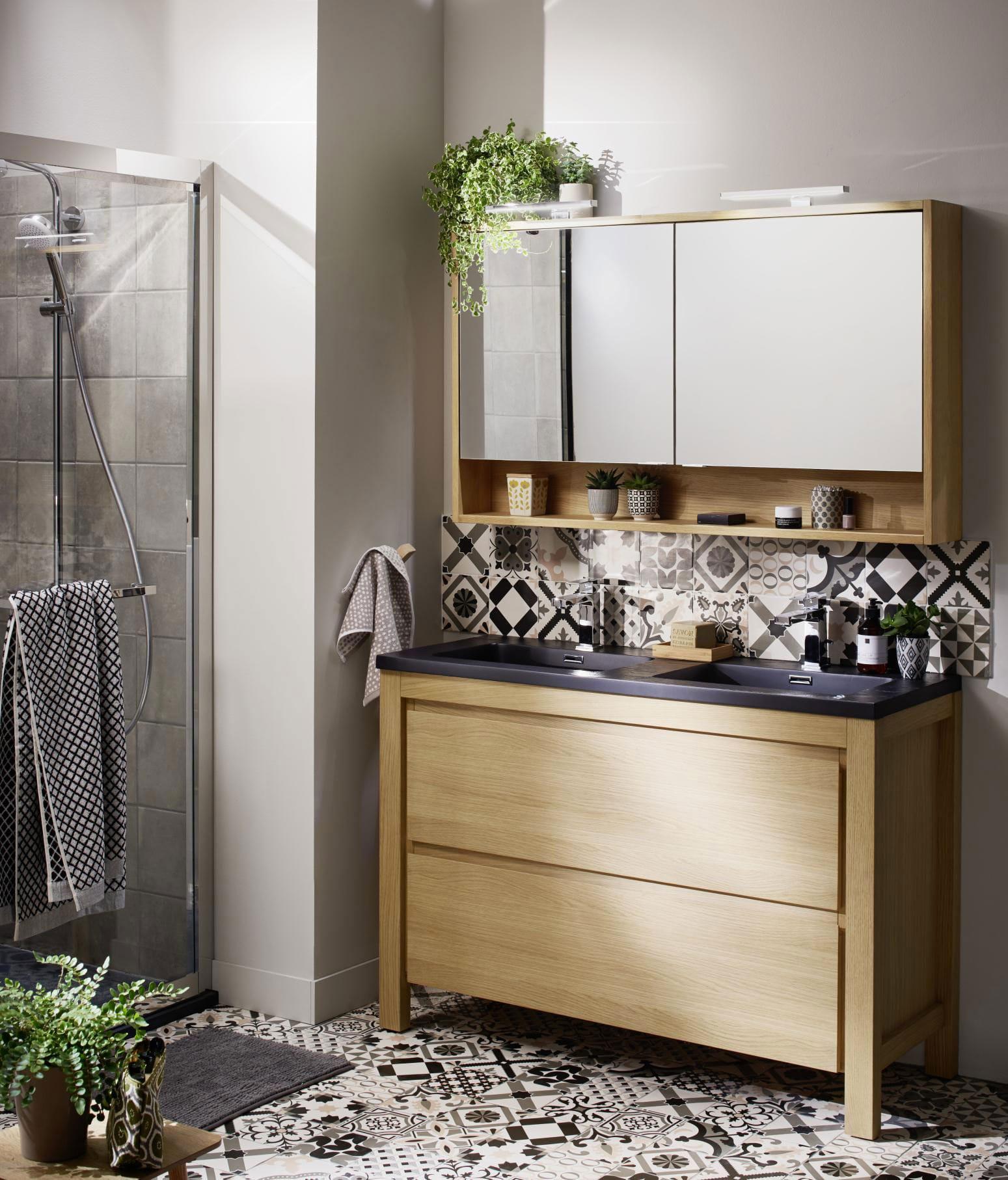 Salle D Eau Blanche Et Bois inspiration salle de bain et petite salle de bain – lapeyre